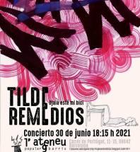 Cartel Remedios + Tilde